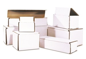 White Corrugated Shipping Mailer Packing Boxes