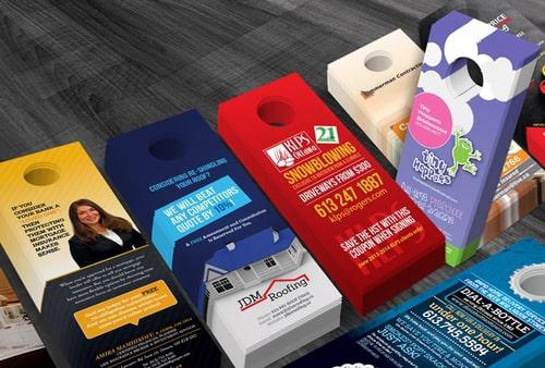 Rack Cards Printing, Door Hanger Printing