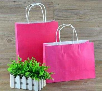 Bright Colored Matte Shopping Bags, Shop Paper Bags