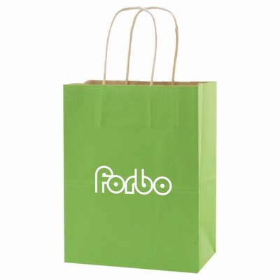 Colored Tint Kraft Shopping Bags, Paper Shopping Bags