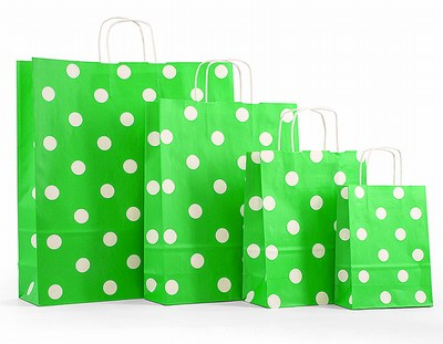 Polka Dot Twisted Handle Bags with Handle India