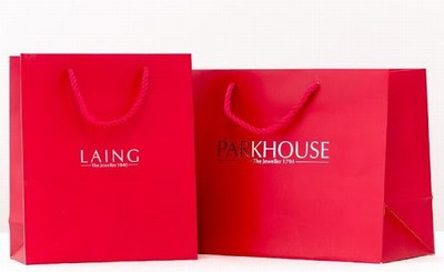 Printed Boutique Paper Bags, Retail Paper Bags