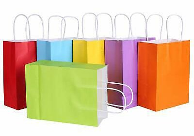 Solid Color Gift Bags with Handles