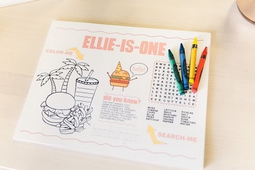 Custom Coloring Book for Baby's Birthday Parties