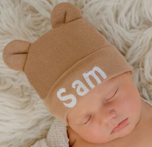 Baby Monogrammed Hat Gift