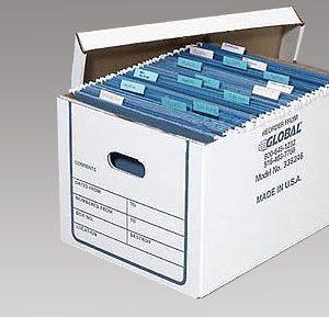 Custom Printed File Storage Boxes, File Storage Packaging